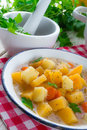 Rutabaga soup a fresh and tasty Stock Photos