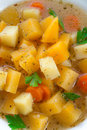 Rutabaga soup a fresh and tasty Stock Image