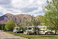 RV Camping in the Mountains Stock Photography