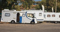 RV Camping. Royalty Free Stock Photo