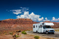 RV canyonlands Royalty Free Stock Photo