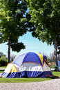 RV Park Tent Camping Royalty Free Stock Images