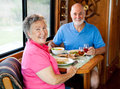 RV Seniors - Casual Dining Stock Photos