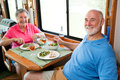 RV Seniors - Dinner for Two Royalty Free Stock Photo
