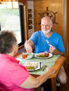 RV Seniors - Great Dinner Honey Royalty Free Stock Image