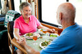 RV Seniors - Holding Hands Royalty Free Stock Images