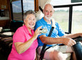 RV Seniors - Tech Savvy Royalty Free Stock Image