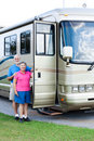 RV Seniors - Vertical Portrait Royalty Free Stock Image