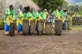 Rwanda drummers Royalty Free Stock Photo