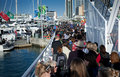 RWC 200,000 Crowd Auckland Waterfront Royalty Free Stock Images
