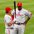 Ryan Howard and Kevin Fransden Phillies Stock Image