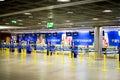 Ryanair check in desks Royalty Free Stock Photo