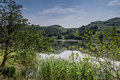 Rydal water cumbria landscape scene at Stock Photo