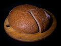 Rye bread on a black background Stock Image