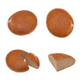 Rye bread in four different angles Stock Photography