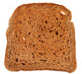 Rye bread toast isolated on white background Royalty Free Stock Images