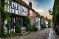 Rye in east sussex a beautiful cobbled street the historic town of Royalty Free Stock Photo