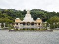 Ryozen kannon memorial large statue of goddess to soldiers who died in world war Stock Image
