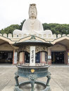Ryozen kannon memorial large statue of goddess to soldiers who died in world war Royalty Free Stock Photography