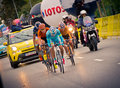 Rzeszow poland july cycling race tour de pologne stage th krakow wins thor hushovd Stock Images