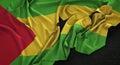 São Tomé and Príncipe Flag Wrinkled On Dark Background 3D Ren