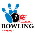 Símbolo do bowling Imagem de Stock Royalty Free