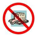 Símbolo: Texto Meat-Free Imágenes de archivo libres de regalías