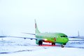 S airlines boeing novyy urengoy march at novyy urengoy international airport russia Royalty Free Stock Photography