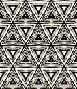 1930s art deco geometric pattern with triangles Royalty Free Stock Photo