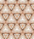 S art deco geometric pattern with triangles and random dots texture for web print wallpaper home decor fashion fabric textile Stock Images
