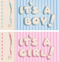 It`s a boy and it`s a girl banners Stock Image