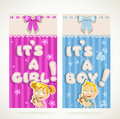 It`s a boy and it`s a girl vertical banners Royalty Free Stock Images