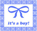 It's a Boy Tag_Blue Ribbon Royalty Free Stock Images