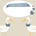 It s a boy vector retro greeting card Stock Image
