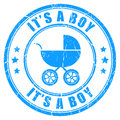 It s a boy vector stamp isolated on white Royalty Free Stock Photos