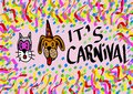 It s carnival image of with pets Royalty Free Stock Photography