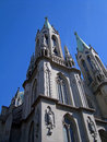 Sé cathedral the neo gothic is a landmark in são paulo old downtown Stock Photography