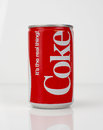1980s Coke Can - vintage and retro Royalty Free Stock Photo