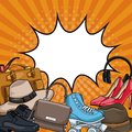 1990s collection elements pop art cartoons Royalty Free Stock Photo