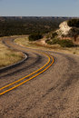S curve in a roadway west texas Royalty Free Stock Images