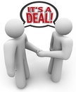 It's a Deal People Buyer Seller Handshake Royalty Free Stock Photo
