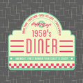 1950s Diner Style Logo Design Royalty Free Stock Photo