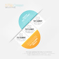 S flip crease infographic vector illustration of shaped design element Royalty Free Stock Images