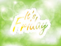 It s friday background with space for text on the green Royalty Free Stock Photography
