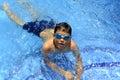 It`s fun to swim in a swimming pool!!! Royalty Free Stock Photo