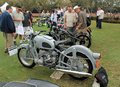 1960s german motorcycle in lineup Royalty Free Stock Photo