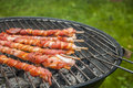 It s grilling time summer tasty grilled meat and vegetables Stock Photos