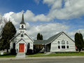 S historic church st luke episcopal has been a landmark in weiser idaho since the Stock Image