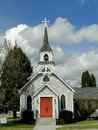 S historic church st luke episcopal has been a landmark in weiser idaho since the Royalty Free Stock Photos