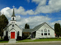 S historic church st luke episcopal has been a landmark in weiser idaho since the Stock Images